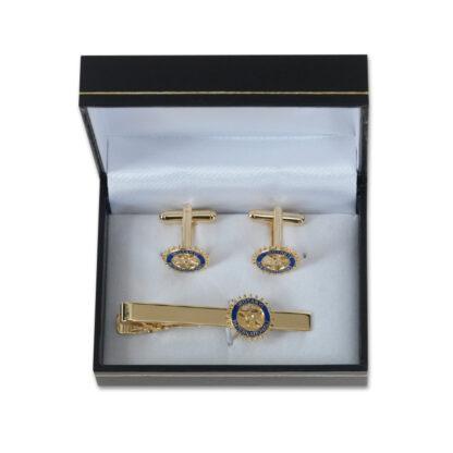 Rotary set: tie pin and cufflinks