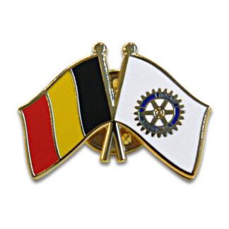 Rotary pin avec le drapeau de la Belgique