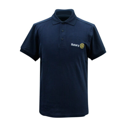 Polo with embroidery of the Rotary logo