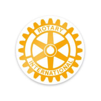 Autocollant avec le logo du Rotary