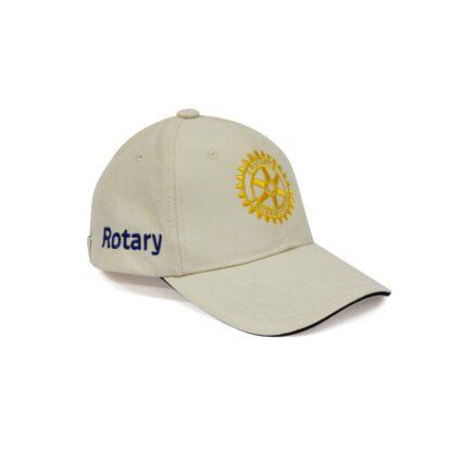 Casquette brodée beige Rotary