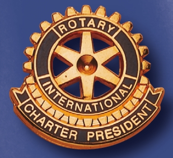 Function pin Charter president Rotary club