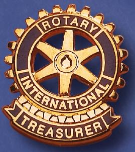 Rotary Functiepin Treasurer