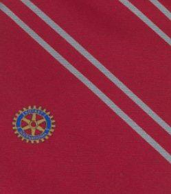Cravate Rotary vin rouge finition en 100% soie