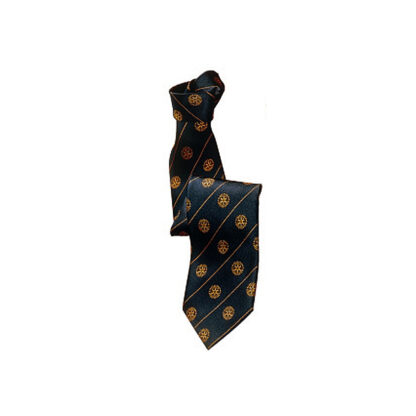 Rotary tie in dark blue with logo