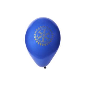 Ballon bleu avec le logo du Rotary en couleur or