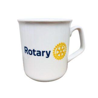 Tasse en céramique avec impression du logo Rotary.
