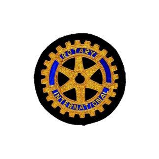 Badge Rotary brodé à la main