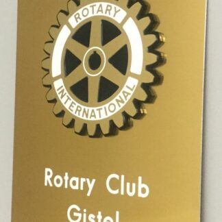 Naambord Rotary clubs Gistel