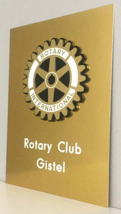 Plaque d'identification Rotary clubs Gistel